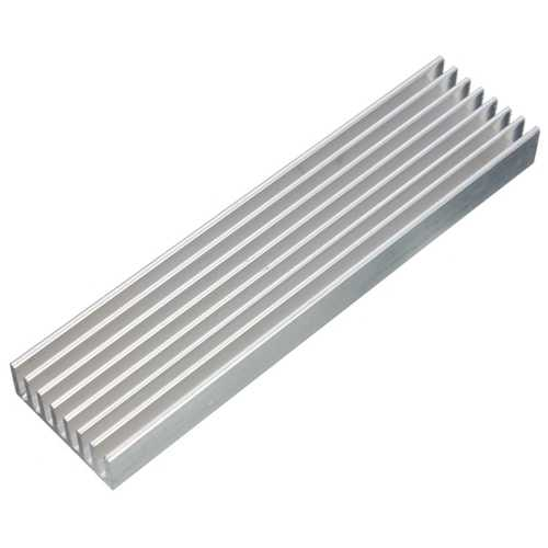 100 x 25 x 10mm Aluminum Heat Sink