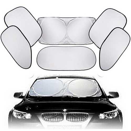 6pcs Car Window Sunshade Wind Shield Visor Cover UV Protect Car Window Film