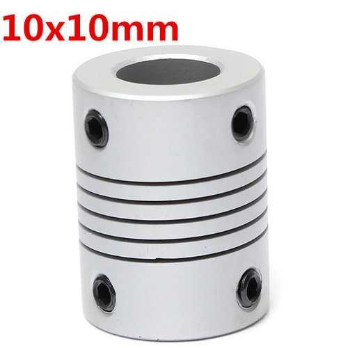 10mm x  10mm Aluminum Flexible Shaft Coupling OD19mm x L25mm CNC Stepper Motor Coupler Connector
