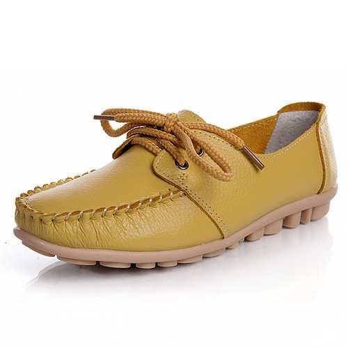 New Trendy Casual Flat Heel Shoes Bow Knot Round Toe Slip Candy Color Loafer Shoes