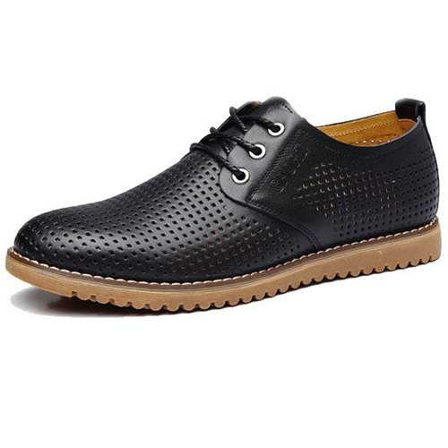 Big Size Men Breathable Casual Hollow Out Leather Oxfords Shoes