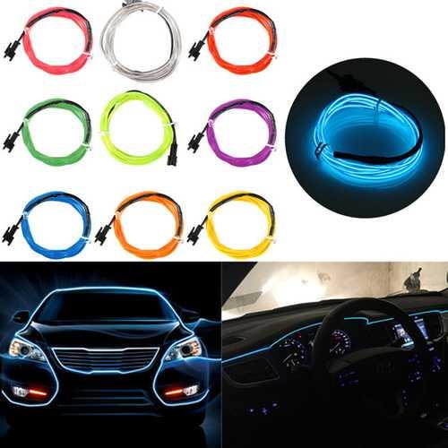 2M Single Color 5V USB Flexible Neon EL Wire Light Dance Party Decor Light