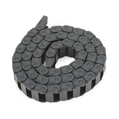 Machifit 10 x 20mm Plastic Cable Drag Chain Wire Carrier Length 1000mm For CNC Router Machine