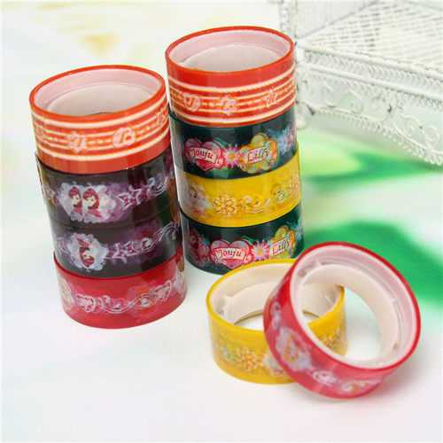 10 Rolls Cartoon Decor Tape Scrapbooking Adhesive Paper Tape Stickers
