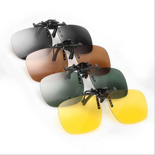 Polarized Clip On Sun Glassess Glasses Lens Unisex Night Vision Lens