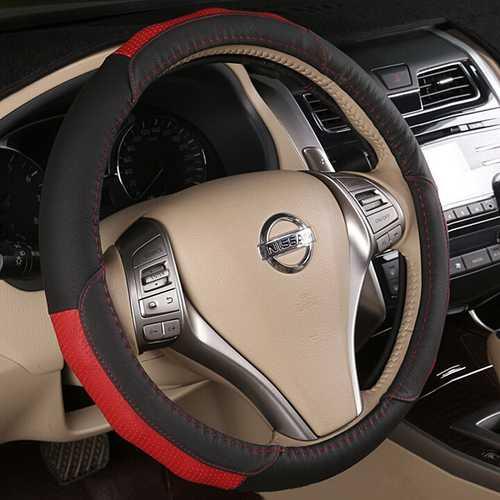 Black Brown 38cm Universal Flat Breathable Car Steel Ring Wheel Cover