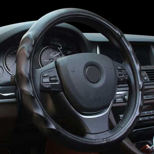Massage Texture Leather Steel Ring Wheel Cover for 15 Inches Wheel Size Car