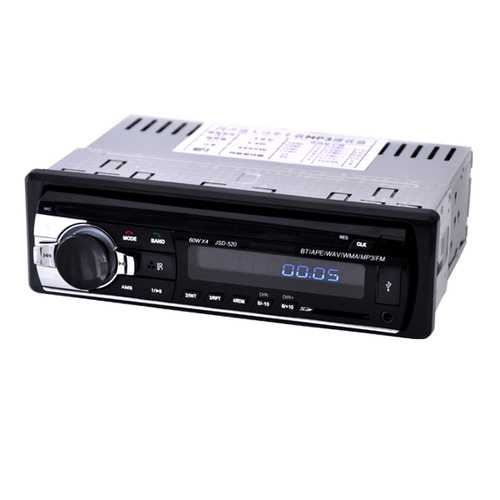 12V Bluetooth Car Stereo FM Radio MP3 with USB/SD MMC Port Audio Player 5V Charger In Dash 1 DIN