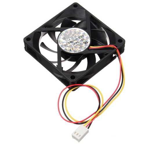 12V Internal Desktop Computer CPU Case Cooling Cooler Master Silent Fan 7cm