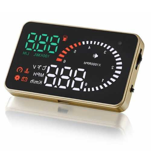 12V 3 Inch X6 Car OBD HUD Projector Head Up Display Car Alarm System Detector