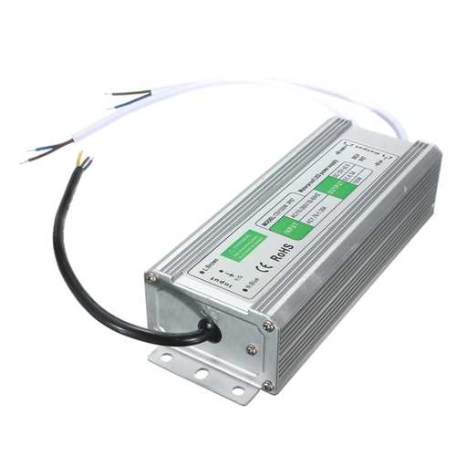 100W Waterproof IP67 LED Transformer Power Supply Driver AC110V-260V To DC12V