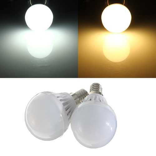 E14 1.8W LED Bulb SMD 2835 White/Warm White Energy Saving Globe Light Lamp AC 220V