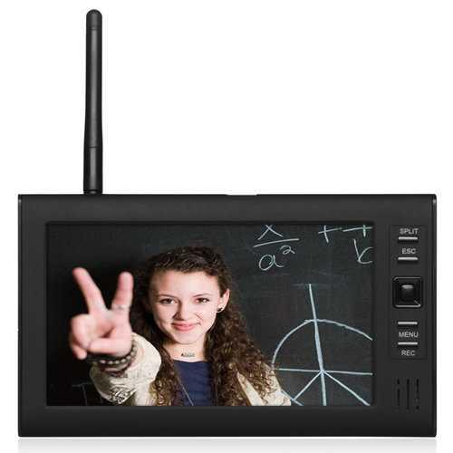 ENNIO SY602E11 7 inch TFT Digital 2.4G Wireless Audio Video 4CH Quad DVR Security System With IR Camera