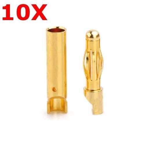 10 Pairs Amass 4.0mm Banana Plug AM-1003E Male & Female