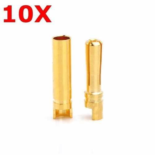 10 Pairs Amass 4.0mm Banana Plug AM-1003F Male & Female