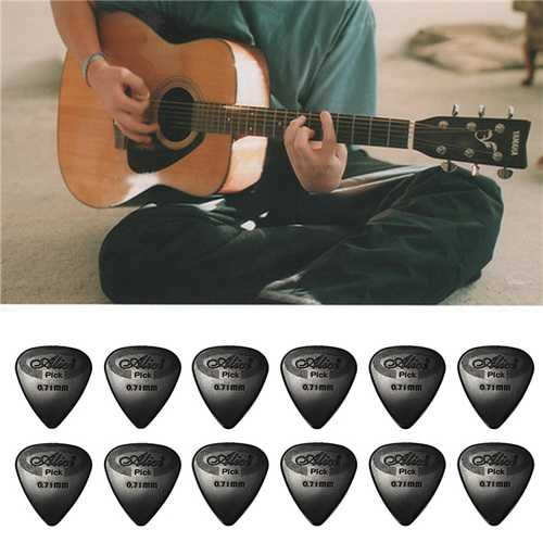 12PCS Celluloid Guitar Picks Plectrums  0.71mm For Guitar Bass