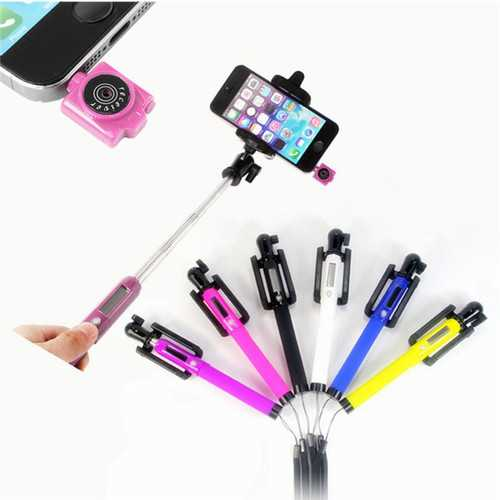 Solar Power Infrared Remote Handheld Selfie Stick Monopod For Cell Phone
