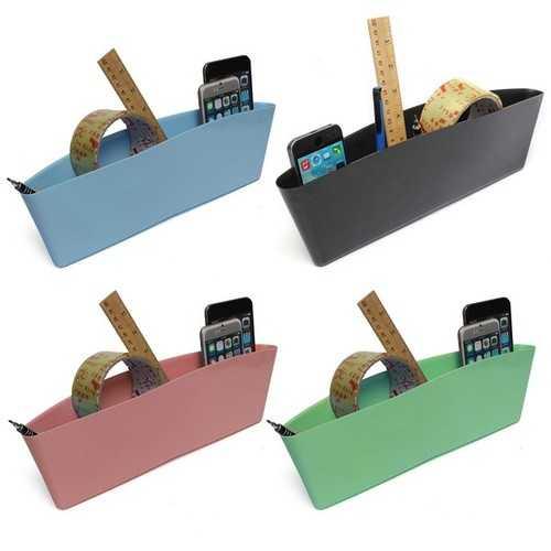 2pcs Car Seat Crevice Storage Catch Catcher Storage Box Wallet Organizer Caddy Pocket