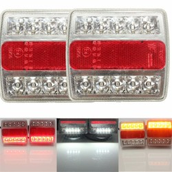 5Functions LED Trailer Towing Light Rear Indicator Brake Reflector Number Plate Lights