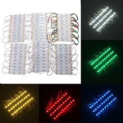 10 Pieces 5050 SMD 30 LED Module Rigid Strip String Light Multi-Colors Waterproof DC 12V