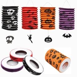 Halloween Pumpkin Bat Pattern Paper Lantern Party Decorations Yard Hanging Decor