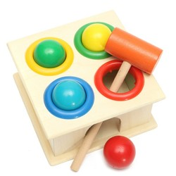 Baby Kids Children Wooden Knock Hammering Ball Early Learning Educational Toy Set