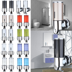 Wall Mounted Bathroom Manually Lotion Shampoo Bottle Dispenser Liquid Soap Squeezer
