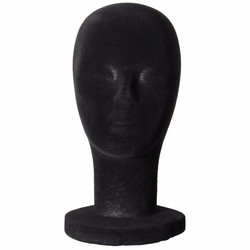 Foam Mannequin Head Black Styrofoam Wigs Display Model