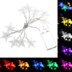 1M 10LEDs Fairy Light String LED Battery Power Romantic Star Party Xmas Garden Decor