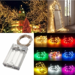4M 40 LED Silver Wire Fairy String Light Battery Powered Waterproof Xmas Party Decor