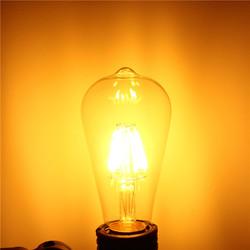E27 ST64 6W COB Filament Energy Saving Incandescent Bulb Retro Edison Light Bulb AC 220V