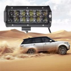 7 Inch 60W 12-SMD LED Work Light Bar Spot Beam Light Driving Fog Lamp 6000K White For DC10-30V ATV Off Road Trailer