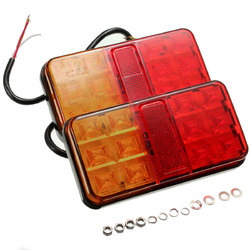 Pair Trailer Truck Lorry Caravan LED Rear Tail Brake Stop Light Indicator Lamp 12V
