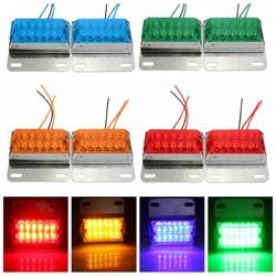 Pair 12V 12-LED Side Marker Indicator Light Lamp Commercial Trailer Truck Pickup