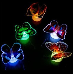 LED Flashing Butterfly Night Light Colors Changing Decorative Lights 3D Stickers Home Decor