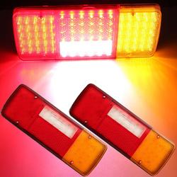 12V 92 LED Rear Tail Lights Brake Indicator Reverse Lamp Pair for Caravan Van Trailer Truck
