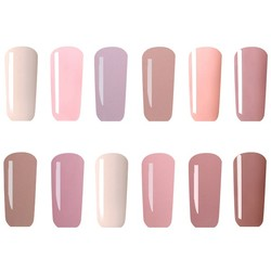 12 Colors Nano White Naked Color System UV Gel Polish Soak-off Nail Art