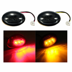 LED Smoke Side Fender Dually Bed Marker Light Red Amber for Ford F350 1999-2010