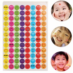 10 Sheets Smile Face Mixed Color Stickers School Teacher Kids Gift Students Rewards Well Done Decor Sticker