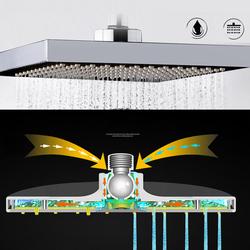 8 Inch Bathroom Square Shape Top Rainfall Pressurrize Shower Head