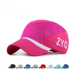 Unisex Polyester Mesh Baseball Cap Quick Dry Outdoor Sport Breathable Snapback Adjustable Hat