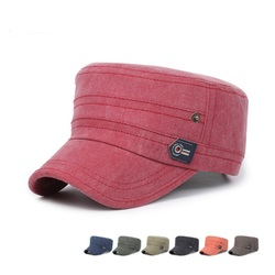 Unisex Cotton Blend Military Army Baseball Cap Flat Buckle Adjustable Snapback Hat