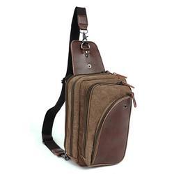 Canvas Retro Crossbody Bag Leisure Outdoor Multifunction Shoulder Waist Bag