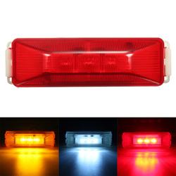3 LED 12V Truck Trailer Lorry Side Marker Light Lamp Red Amber White