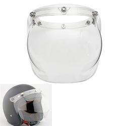 Bubble Shield Face Mask Clear Visor & Base for Vintage Open Face Helmet