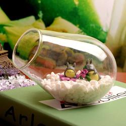Cannon Shaped DIY Moss Micro Landscape Glass Bottle Succulent Plants Vase Home Decoration