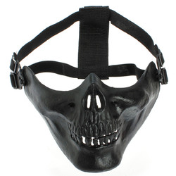 Airsoft Half Face Protective Skeleton Skull Gear Motorcycle Mask