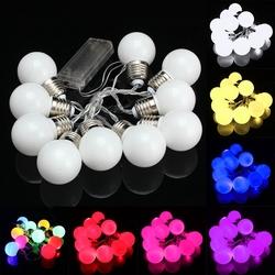10 LED Battery Mini Festoon Fairy String Light Bulb Christmas Wedding Garden Lamp