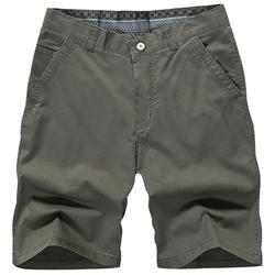 5 Color Men Summer Casual Zipper Knee Length Cotton Blended Beach Shorts