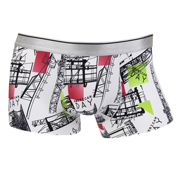 Mens Printing Fashion Casual Boxers Seamless Ice Silk Mid-Rise Sexy Underwear 9 Designs